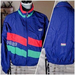 Vintage Puma Sport Zip Up Windbreaker Jacket, VTG